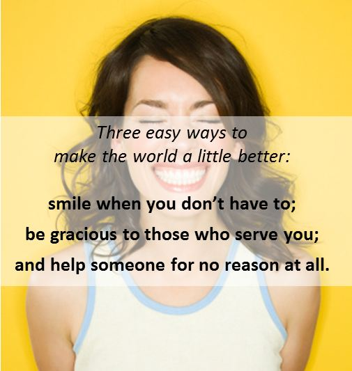 three ways to make the world a little better