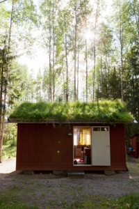 Real estate in the forest: a shed in Sweden (not an island :-)).