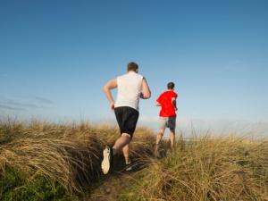 The habit of jogging.  Rockaway Beach, Oregon.